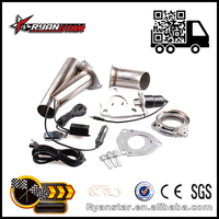 "Ryanstar Exhaust Pipe Wholesale 2"" 2.25"" 2.5"" 3"" Exhaust System With Remote Control Stainless Electric Exhaust CutOut"