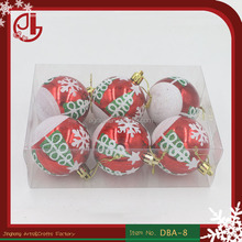 Christmas Decoration Craft Supplies Matte Christmas Balls Powdered Paint Blended Giant Christmas Ball