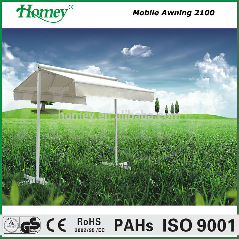 free standing awning mobile movable awning