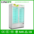 transparent fast cooling supermarket refrigerator/glass display showcase