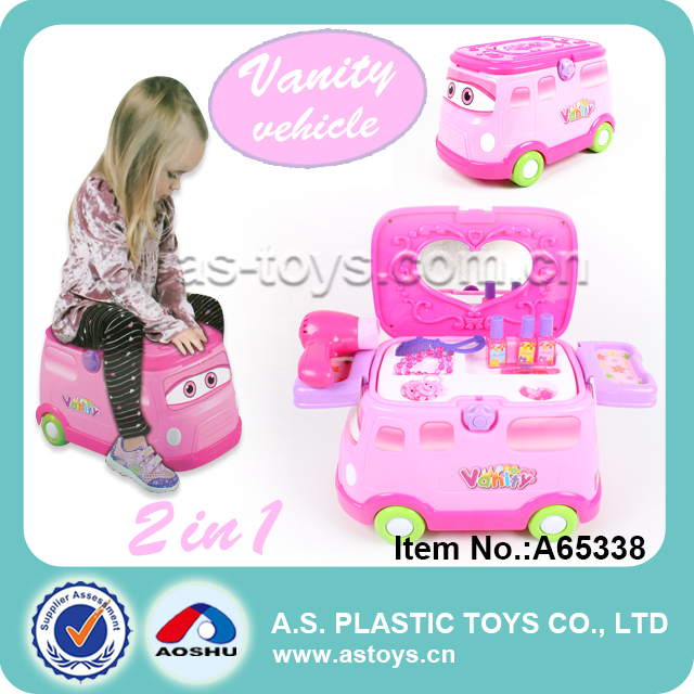children happy pretend play 2 in 1 sliding ride on car doctor set for kids