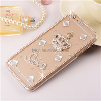 Hard PC Transparent Case for iPhone 6 Plus Back Cover Mobile Diamond Clear Crystal