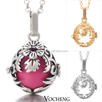 Wholesale 10pcs/lot Vocheng bola ball Necklace 3 Colors Angel Ball Pendant Necklace (VA-023) Free Shipping