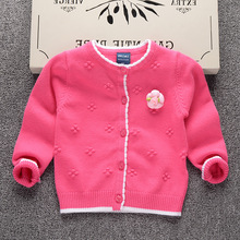 Baby Clothes Factory Wholesale Knitted Cashmere Baby Girl Cardigan Sweater