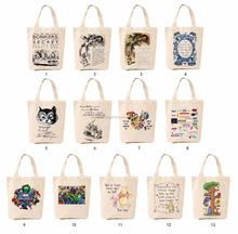 Fashionable styles promotional custom standard size organic shopping fairtrade cotton bags with short handles