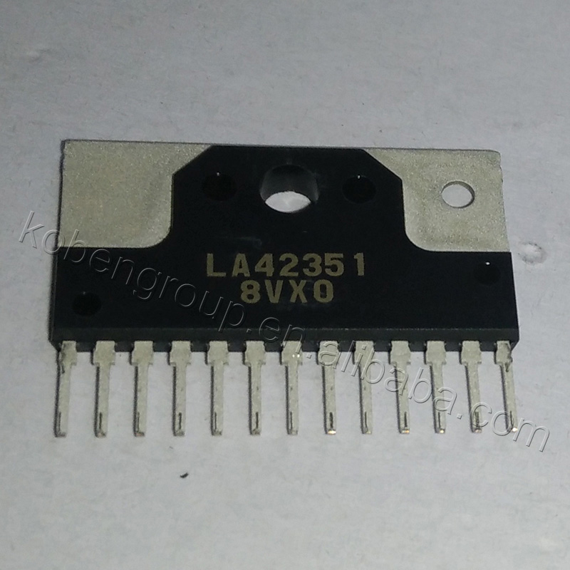 LA42351 Monolithic Linear IC 5W 2-Channel AF Power Amplifier With DC Volume Control