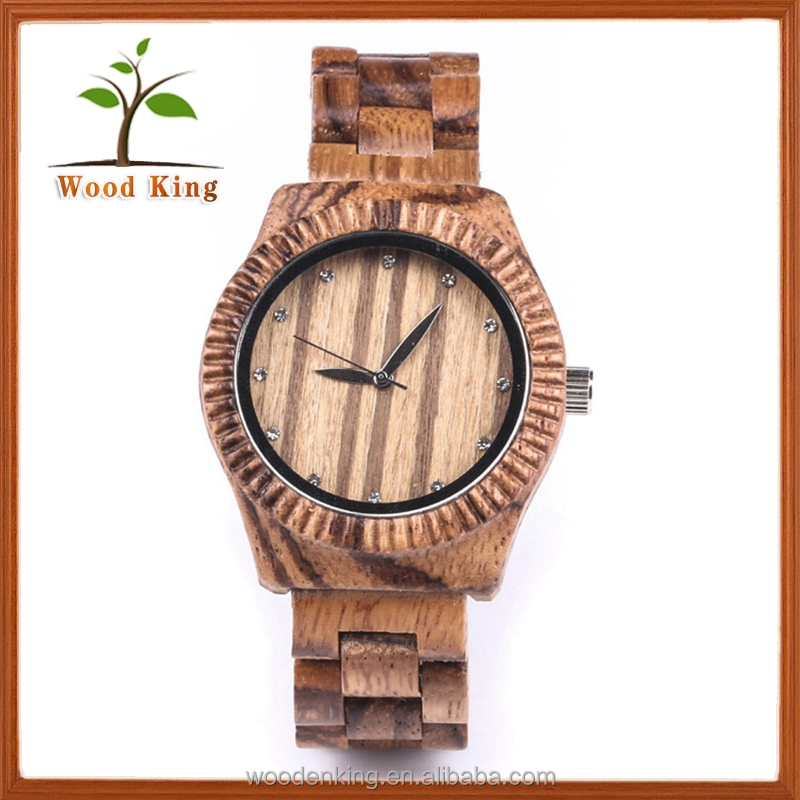 Leisure Quartz Mens Women Cheap Wester Wooden Wrist Watches Watch
