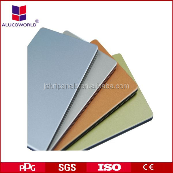 Alucoworld interior wall cladding 5 mm thick aluminum plastic sheet