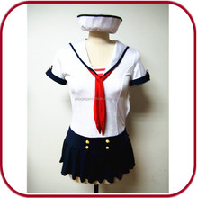 Halloween sexy sailor costume black uniform skirts for party PGFC-2476