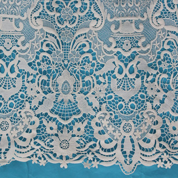 2015 water dissolving lace fabric,embriodery crochet lace fabric