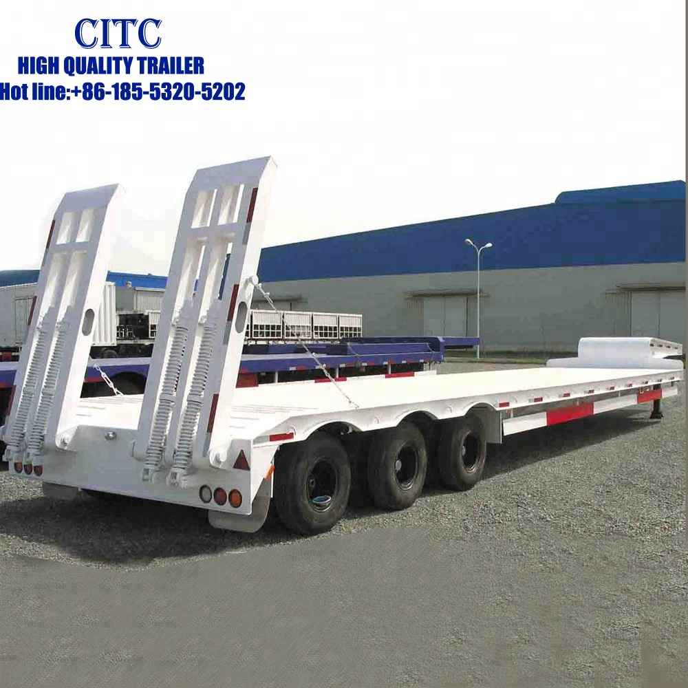China 3 <strong>axles</strong> 100T 12 <strong>wheels</strong> heavy duty low bed truck semi trailer