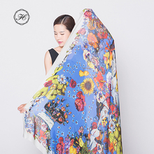 ODM/ OEM Printed Custom Design Long Women Chiffon Hijab Scarf