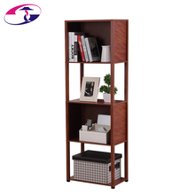 4-Tier Corner Design Mdf Wood Natural Bamboo Shelf For Book