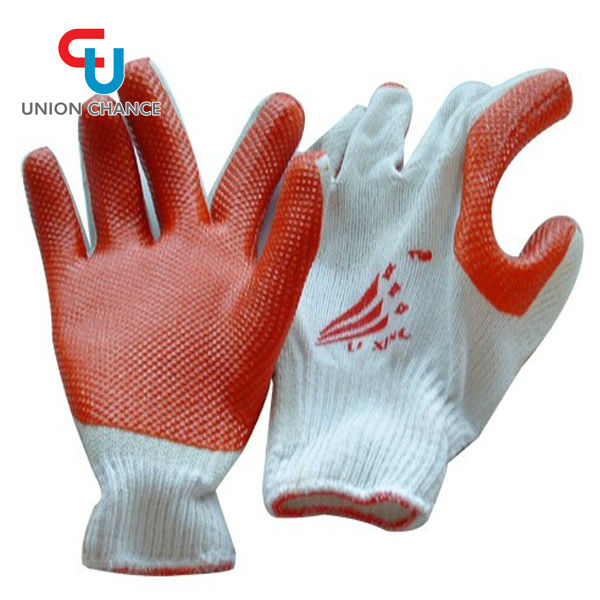 Red PVC Coated Work Gloves