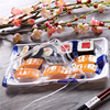 KW-0008SY-B High Quality PS Disposable Plastic Sushi Container,Plastic Take Out Sushi Packaging,Japanese Sushi Box with Printed