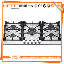 Hot Selling heavy cast iron 5 burner gas range cheap gas cooker /gas stove prices for sale (PG9051S-HC2I)