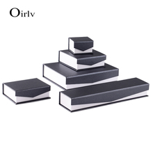 Oirlv Custom OEM Cardboard Ring Necklace Pendant Bangle Bracelet Jewelry Packaging Boxes Gray Paper Magnetic Closure Gift box