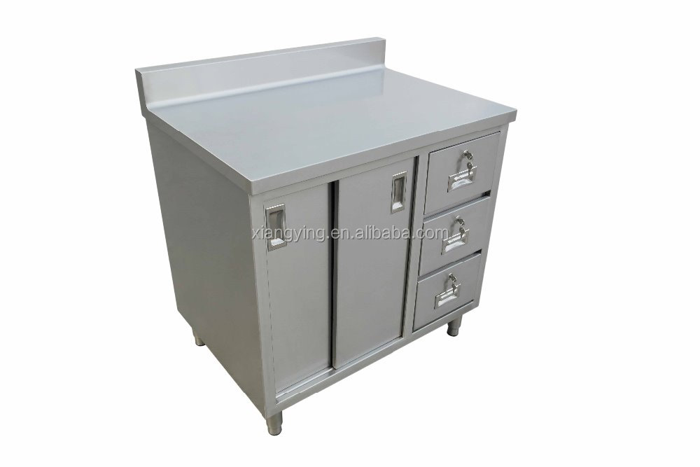 NSF Approval Stainless Steel Kitchen Cabinet with Three Drawers/ Commercial Cabinet