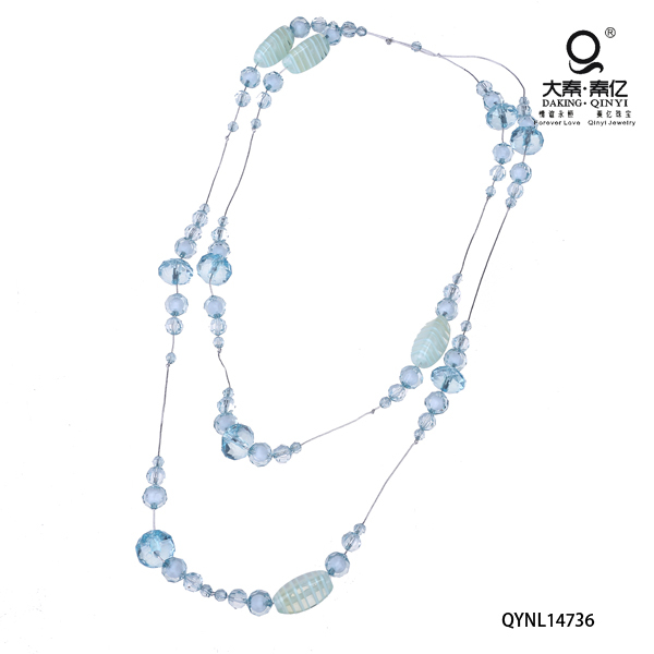 Blue vintage plastic bead necklace buy chinese products online
