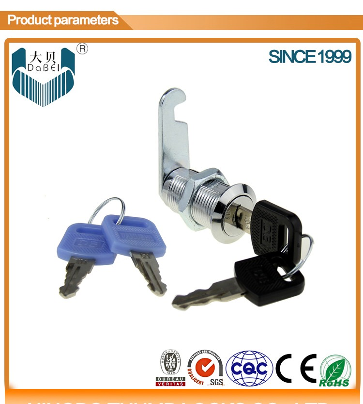 103-30 cam lock with plastic holder with steel or brass key (M18*L30mm)