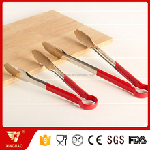 Fashional Kitchen Food Serving Tong with Red Plastic Handle
