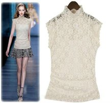 2012 fashion trend white vintage lace blouse