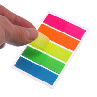 Neon Page Markers Sticky Note Tabs,Colored Index Tabs Flags, Fluorescent Pet Sticky Notes