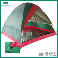 Good quality Flytop double layer 4 person 4 season fiberglass rod outdoor camping tent with skirt
