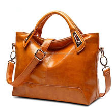 2016 new brand women genuine leather big tote handbag with one long strap
