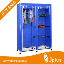 JP-WR125FABW Portable Non Woven Clothes Storage Rack 4 Tiers Canvas Closet Wardrobe