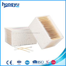 Local factory produced pure cotton tip and bamboo stick cotton buds