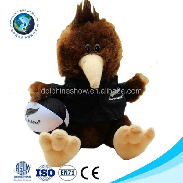 2015 Cheap plush kiwi bird for sale with football custom fashion cute stuffed soft plush kiwi bird toy