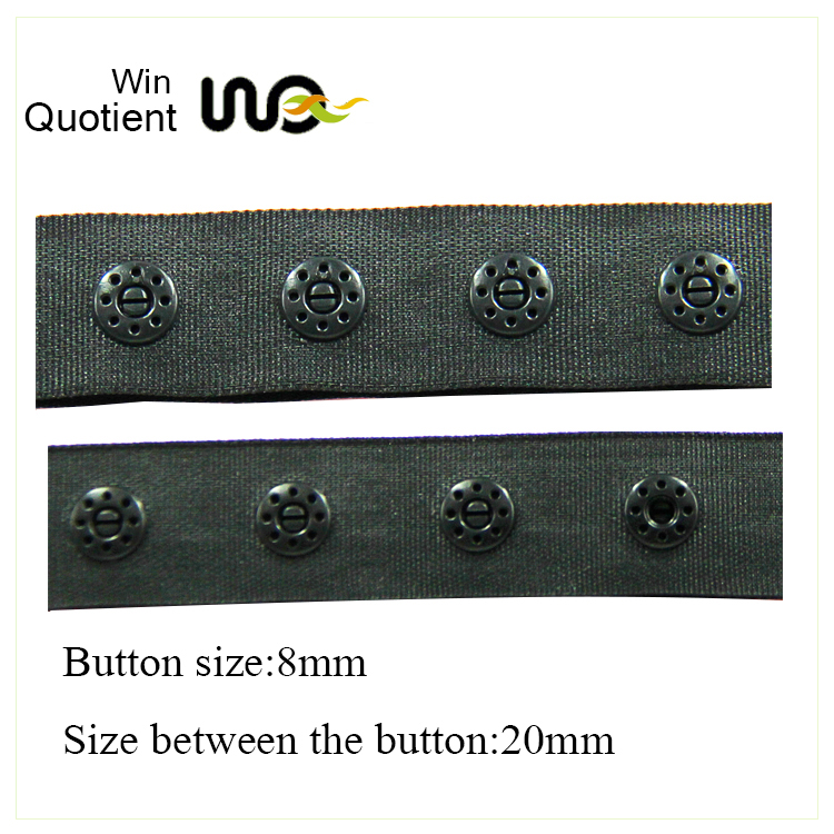 Factory Supply Basic Style Colored Plastic Snap Button Tape For Garment