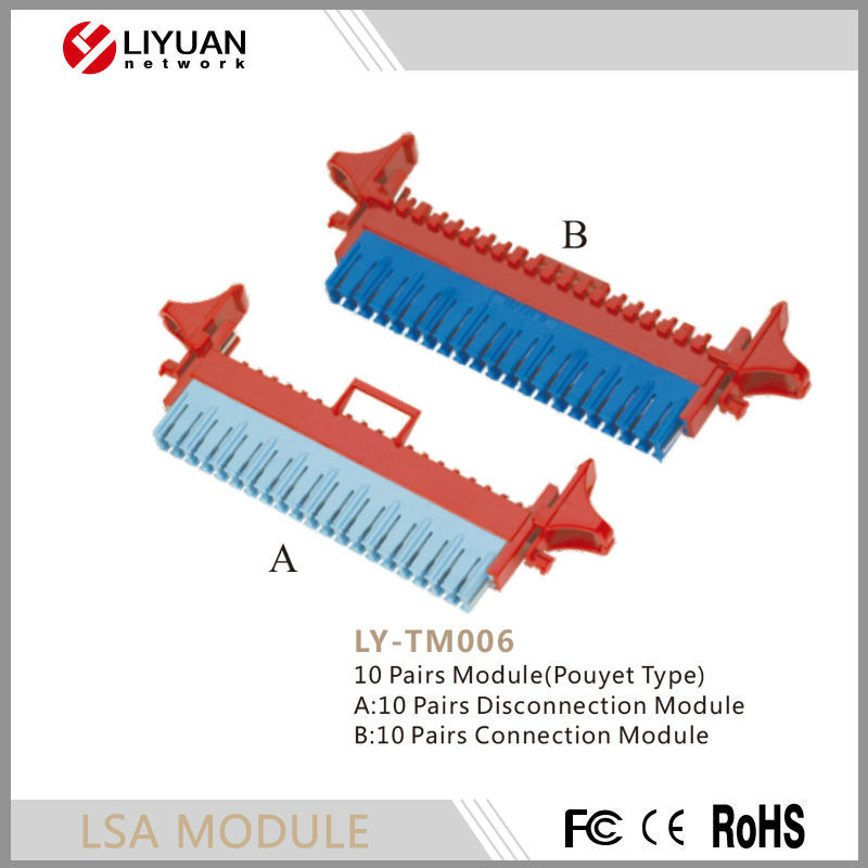 LY-TM006 10 Pairs Disconnection Module(Pouyet Type)