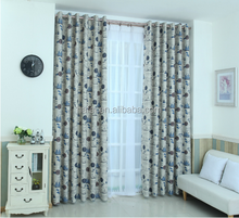 Mediterranean style designs printed living room blackout ready made curtain
