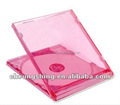 good qulity single disc pink pp plastic 10.4mm cd jewel case