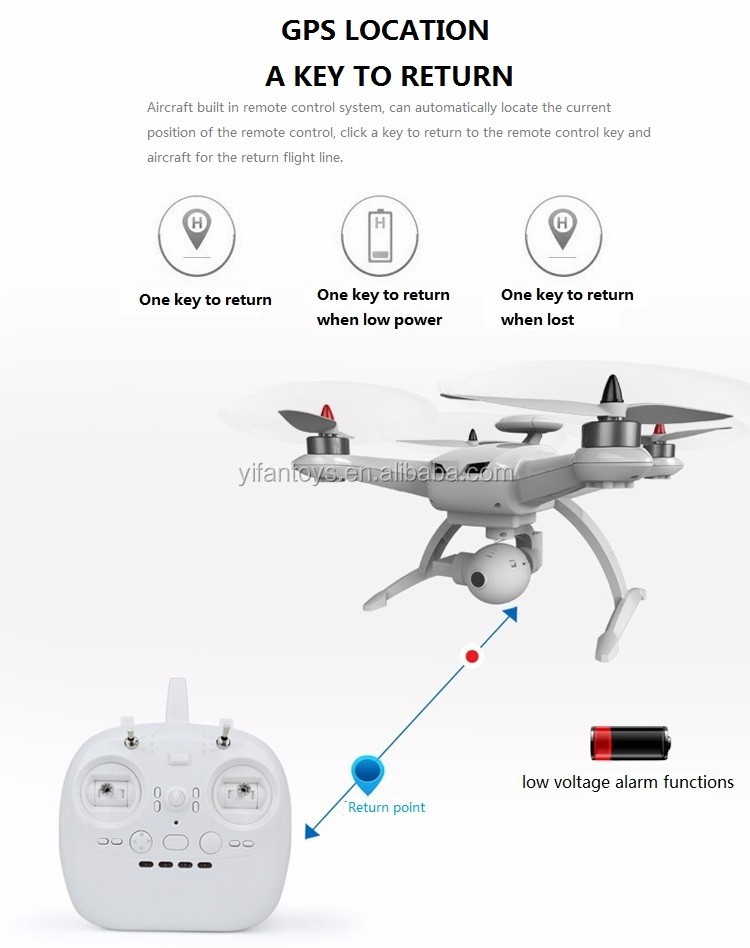 Follow Me RC Drone GPS K350 2.4G Brushless Motor Altitude Hold RC Headless Mode UFO Drone Quadcopter With Double GPS System