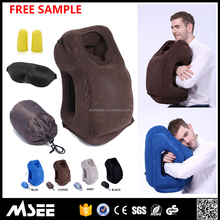 2017 Newest Headrest Memory Foam Neck Pillow Inflatable with Free Pillow bag