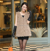 Alibaba Supplier new Products fashion fake fur long vest in women's vest&waistcoat