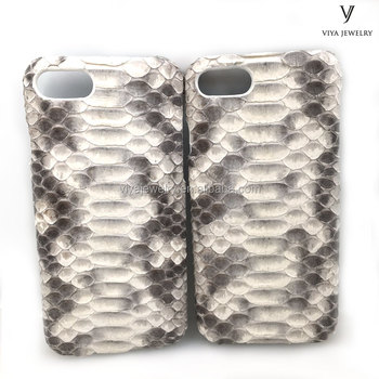 natural python leather case engraving logo brand name phone case