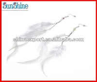NEWEST White Feather Style/pattern fancy steel navel earring jewelry/jewellery earring