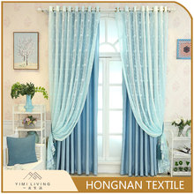 Cheap new fashionable polyester linen fancy shade curtain blackout