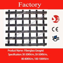 Fiberglass geogrid 100KN-100KN for UK Market