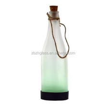 Small solar bottle lanterns , rope &glass design lights