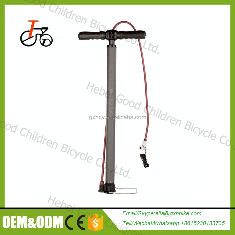colorful bike pump / mountain bike inflator pump /aluminium mini bike pump with hose and gauge high pressure