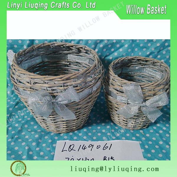 Eastern Style Snack willow Basket with Dividers for seed