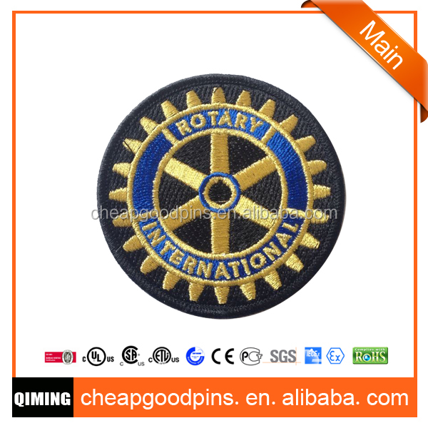 2017 rotary shape embroidered patches with very cheap price high quality