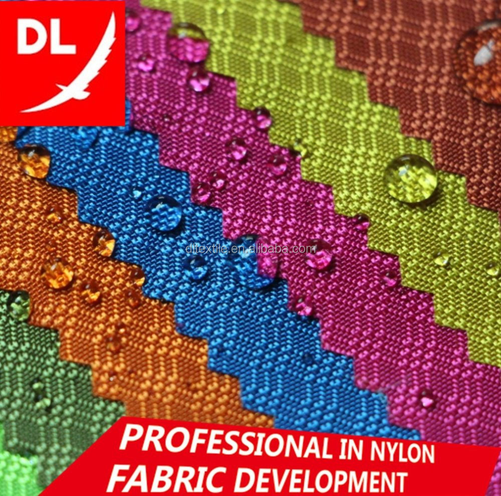 210D jacquard nylon fabric three lines diamond style Oxford fabric for bags big quantity in stock