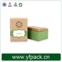 Hot Sale Handmade Cardboard Square Kraft Soap Packaging Boxes