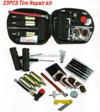 23 pcs Canvas Motorcycle Tubeless Repair Tire Puncture Kit